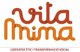 Logo Vitamina amb lletra lligada es vermell i taronja